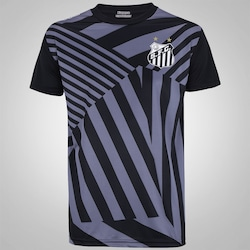 Camiseta do Santos 2016 Kappa Basic Force - Masculina - PRETO
