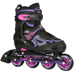 Patins Oxer Pixel - In Line - Fitness - ABEC 7 - Ajustável - Adulto - ROSA/ROXO