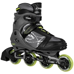 Patins Oxer Byte - In Line - Fitness - ABEC 7 - Adulto - CINZA/VERDE
