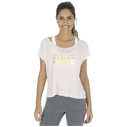 Blusa Cropped Oxer Dance - Feminina - BEGE