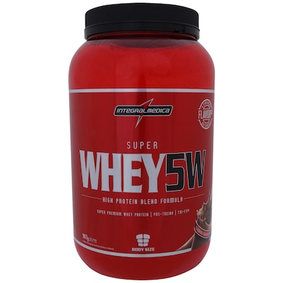 Whey Protein 5W Integralmédica Super Whey 5W - Chocolate - 907g