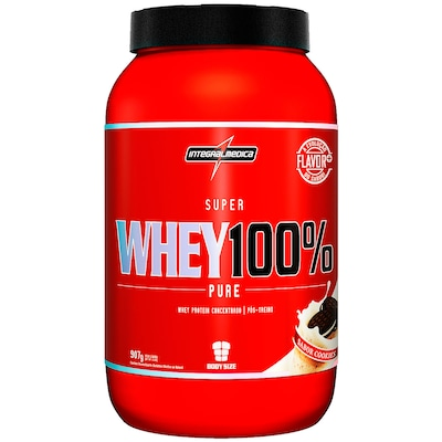 Whey Protein Integralmédica Super Whey 100% Pure - Cookies - 907g