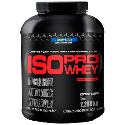 Iso Pro Whey - 2.268 Kg - Sabor Cookies - Probiótica
