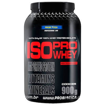 Whey Protein Isolado Probiótica Iso Pro Whey - Cookies - 900g