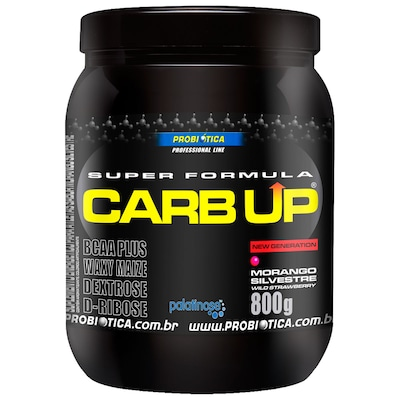 BCAA Plus Powder Carb Up – 800 g – Sabor Morango – Probiótica