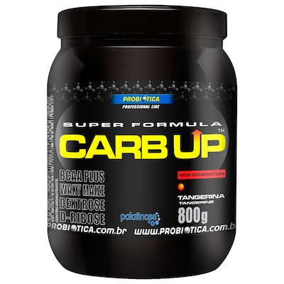 BCAA Plus Powder Carb Up - 800 g - Sabor Tangerina - Probiótica