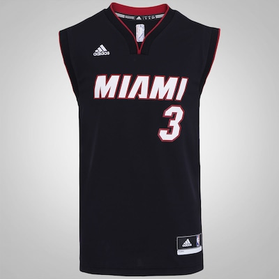 Camiseta Regata adidas NBA Miami Heat Road Wade - Masculina