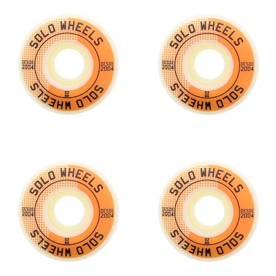 Rodas de Skate Solo Decks Orange Wheels - 52mm - 4 Unidades