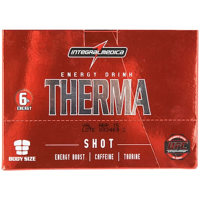 Energy Drink Therma -  720 ml - Sabor Guaraná - Cx com 12 Frascos -  Integralmedica