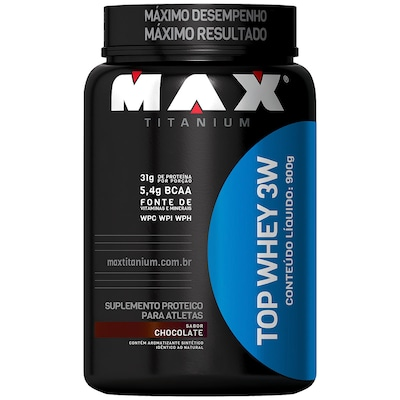 Whey Protein 3W Max Titanium Top Whey 3W - Chocolate - 900g