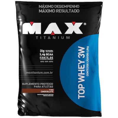 Whey Protein 3W Max Titanium Top Whey 3W - Chocolate - 1,8Kg