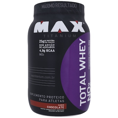 Total Whey NO² Max Titanium – 900g – Sabor Chocolate