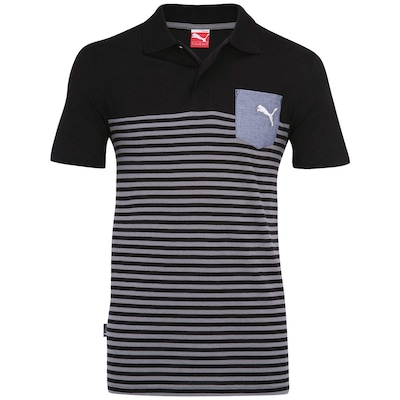 Polo Puma Core Striped I - Masculina