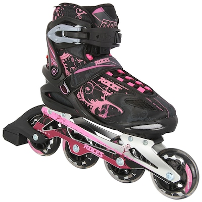 Patins Roces FLOS - In Line - Fitness - ABEC 7 - Base de Alumínio - Feminino