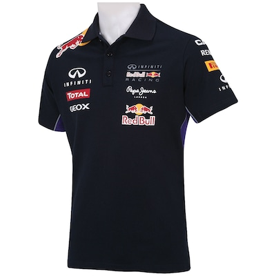 Camisa Polo Red Bull Racing Linha Oficial - Masculina