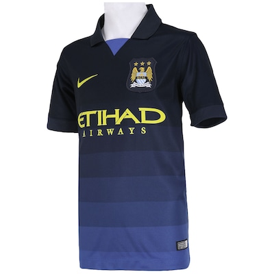 Camisa Nike Manchester City II 2014-2015 s/ n° - Juvenil
