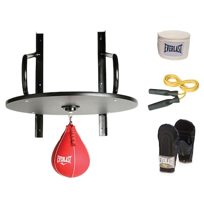Punching Ball Everlast Kit Completo Com Luva, Bandagem e Corda