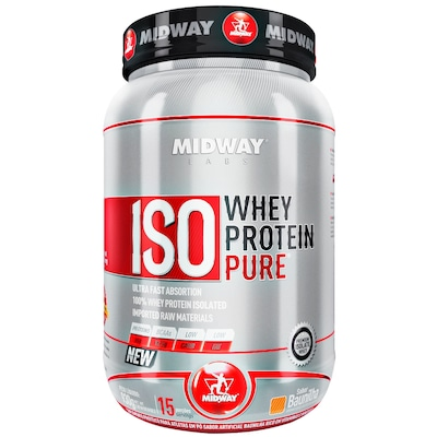 Whey Protein Isolado Midway Iso Whey Protein Pure - Baunilha - 930g