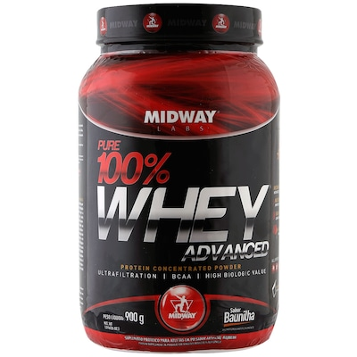 Whey Protein Midway Pure 100% Whey Advanced - Baunilha - 900g