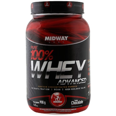 Pure 100% Whey Advanced – 900 G – Sabor Chocolate – Midway