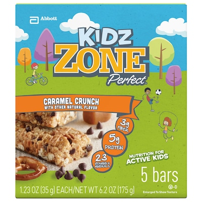 Zone Perfect Kids – Caixa com 5 Unidades – Sabor Amendoim Crocante - Abbott