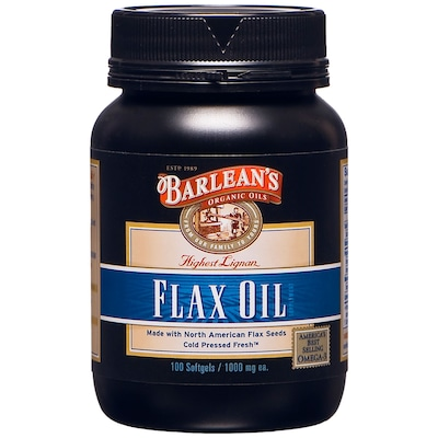 Ômega Barlean's Highest Lignan Flax Oil 1000mg - 100 Gel-Cápsulas