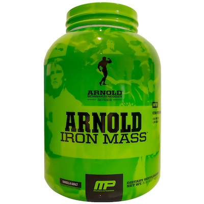 Arnold Iron Mass - 2,27 kg  – Sabor Baunilha – Musclepharm