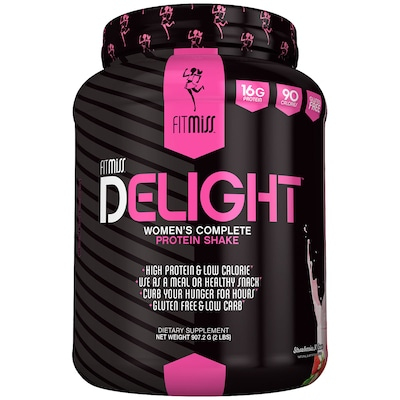 Whey Protein Fit Miss Delight Protein Shake - Morango - 543g