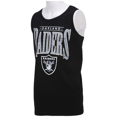 Camiseta Regata New Era Lett Logo Oakland Raiders - Masculina