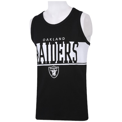 Camiseta Regata New Era Faixa Oakland Raiders - Masculina