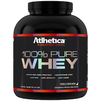 Whey Protein Atlhetica 100% Pure - Cookies e Cream - 2 Kg