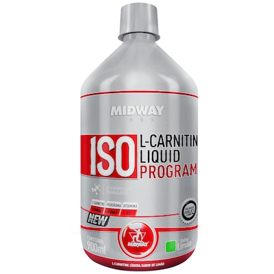 L-Carnitina Midway Iso L-Carnitine Liquid - Limão - 900ml