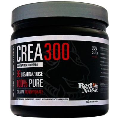 Creatina Red Nose Monohidratada - 300 g - Sem Sabor