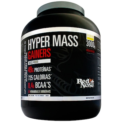 Hypermass Gainers 49000 – 3 Kg – Sabor Baunilha – Red Nose