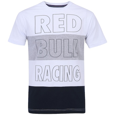 Camiseta Red Bull Racing SC Stripe Large - Masculina