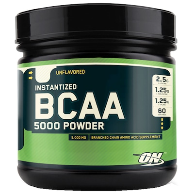BCAA 5000 Powder Optimum Nutrition – 345g - Sem Sabor