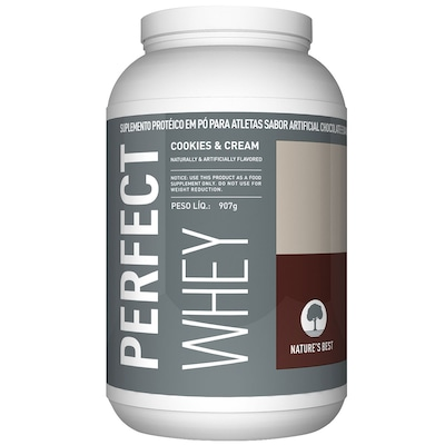 Perfect Whey Protein - 909 g - Sabor Cookies & Cream - Natures Best