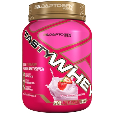 Whey Protein Adaptogen Science Tasty Whey - Sabor Morango - 909g