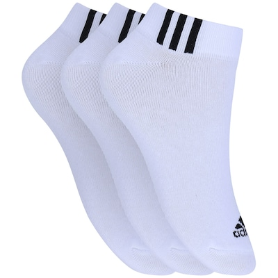 Meia adidas Ankle Low Kit Com 3 Pares - Adulto