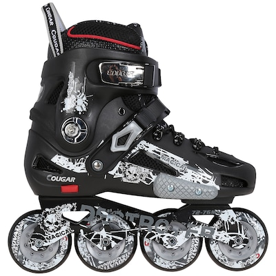 Patins Oxer MZS507 Destroyer - In Line - Freestyle / Slalom - ABEC 9 - Base de Alumínio