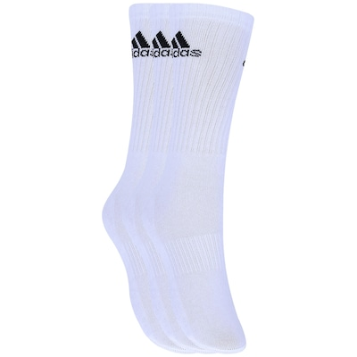 Meia adidas Crew Cushion Kit com 3 Pares - Adulto