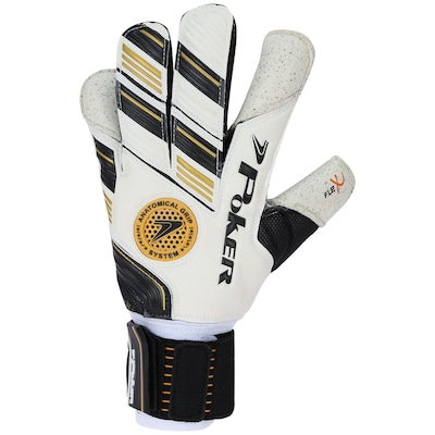 Luvas de Goleiro Poker Security II Pro Gold - Adulto