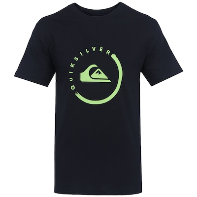 Camiseta Quiksilver Active Logo Ink - Masculina