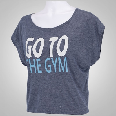 Camiseta Cropped Oxer Go To The Gym - Feminina