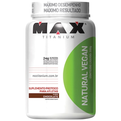 Proteína Max Titanium Natural Vegan - Chocolate - 500g
