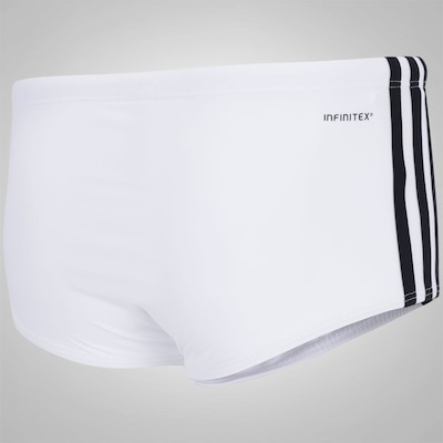 Sunga Boxer adidas 3S Infinitex Lateral Larga - Adulto