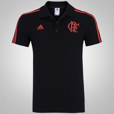 Camisa Polo do Flamengo adidas 3S - Masculina