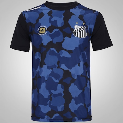 Camiseta do Santos 2016 Kappa Prematch - Masculina