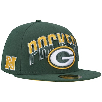 Boné Aba Reta New Era Green Bay Packers NFL Draft - Fechado - Adulto