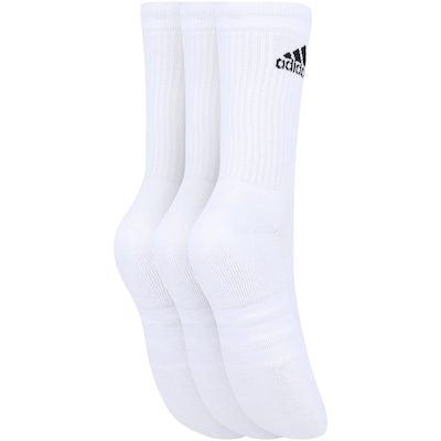 Kit de Meias adidas Crew Cushion 3S com 3 Pares - Adulto